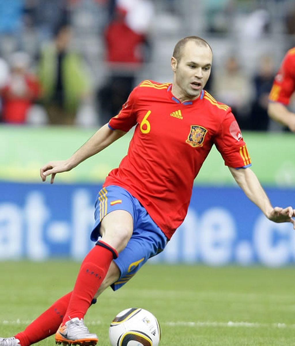 Iniesta es seria duda para el debut ante Suiza
