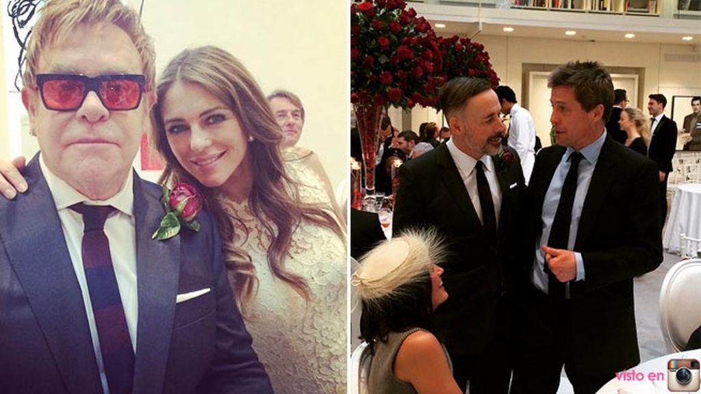 Liv Hurley y Huhg Grant fueron algunos de los invitados a la boda