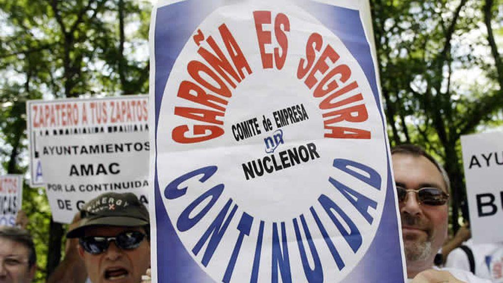 Manifestación en contra del cierre de Garoña