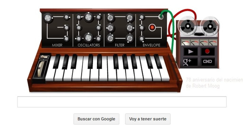 Google pone música a su buscador con el sintetizador de Robert Moog
