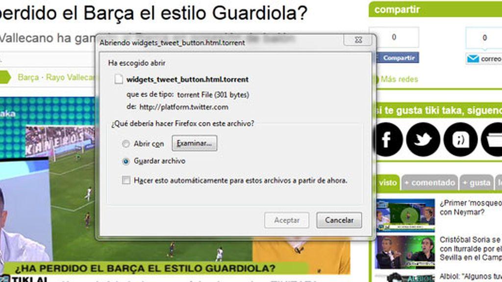 Las web de Mediaset se han visto afectadas