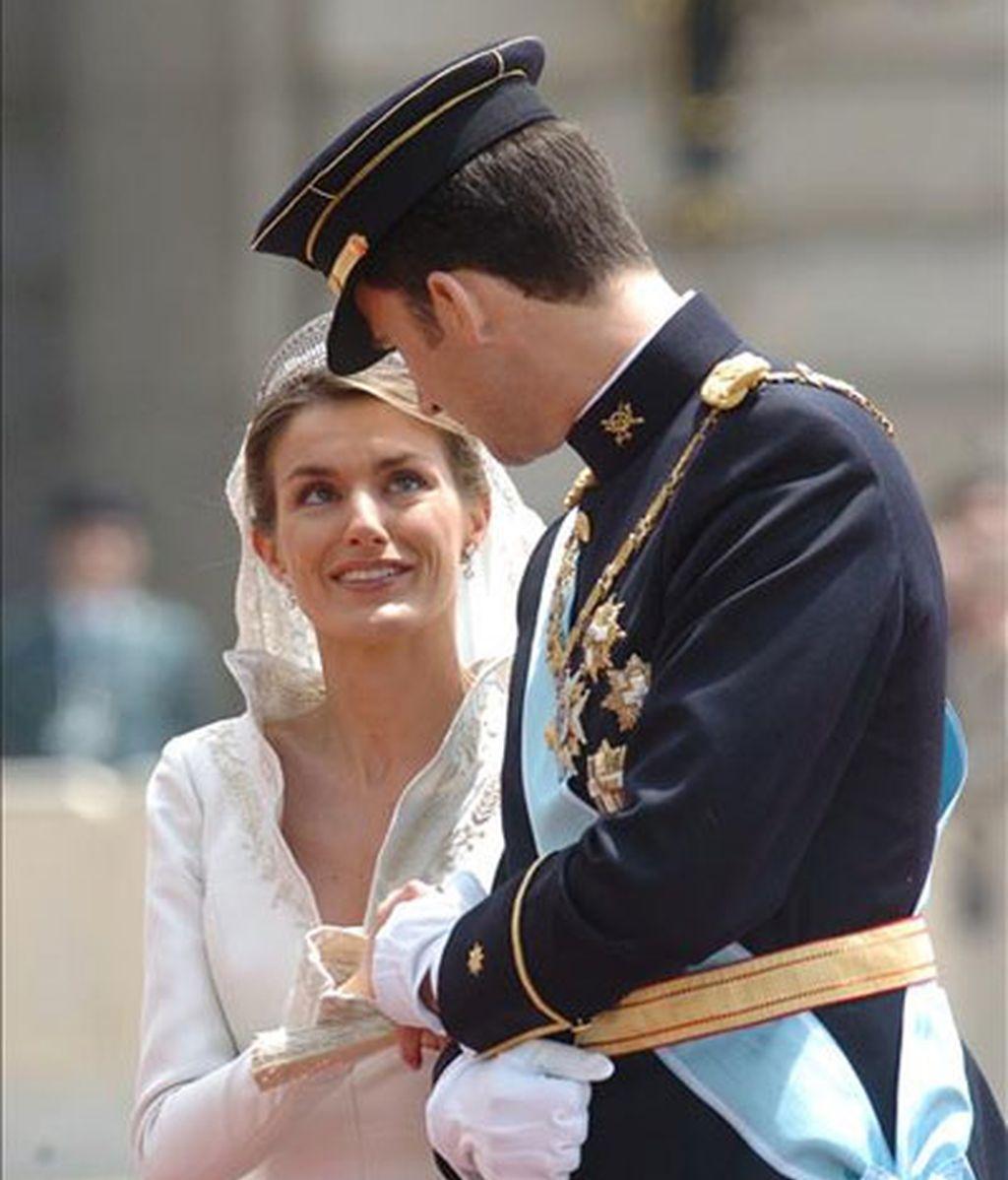 Los Príncipes de Asturias el día de su boda. Foto: EFE