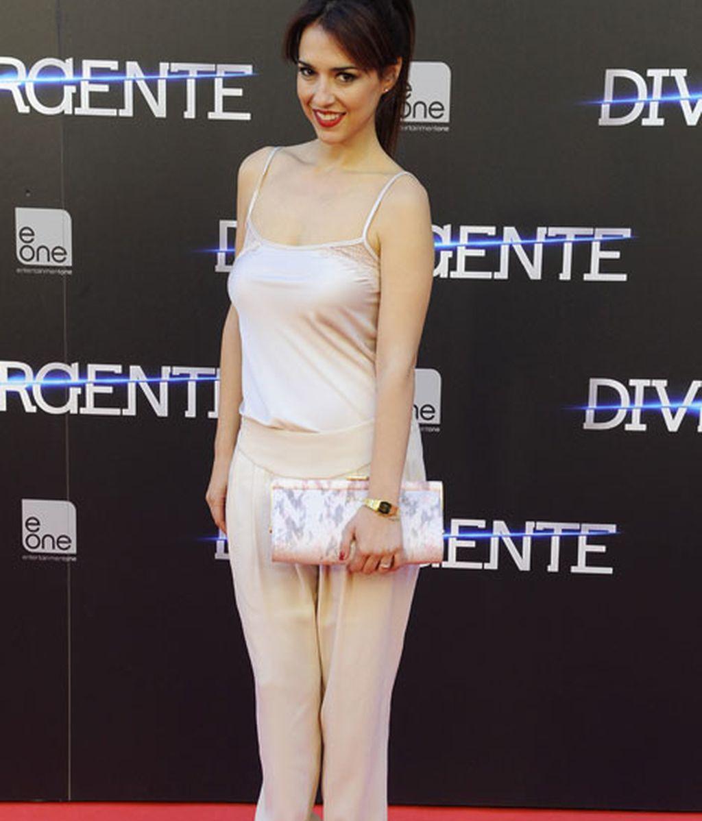 Cristina Brondo presenció la locura de los fans en el estreno de 'Divergence'