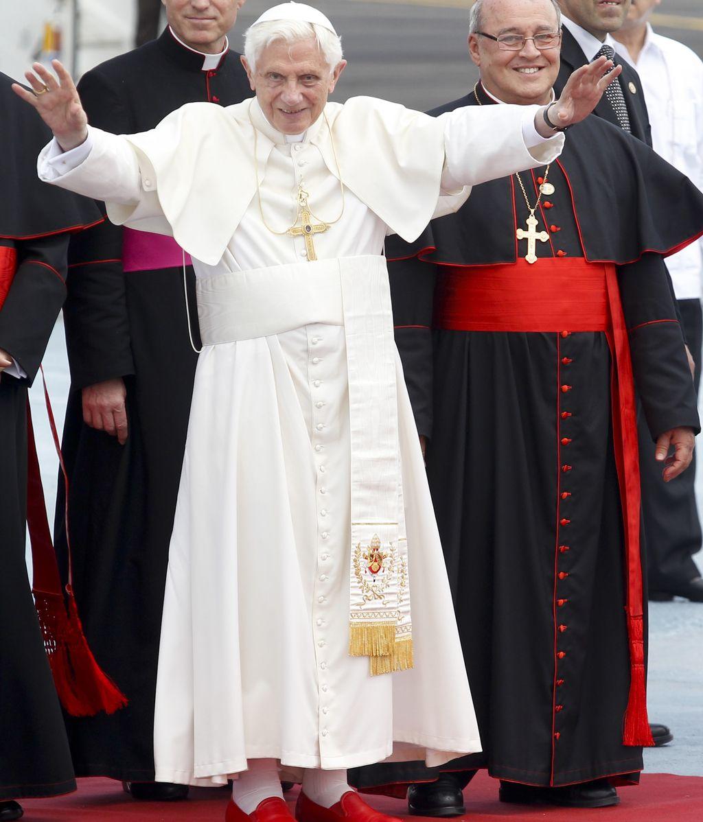 El papa a su llegada a La Habana