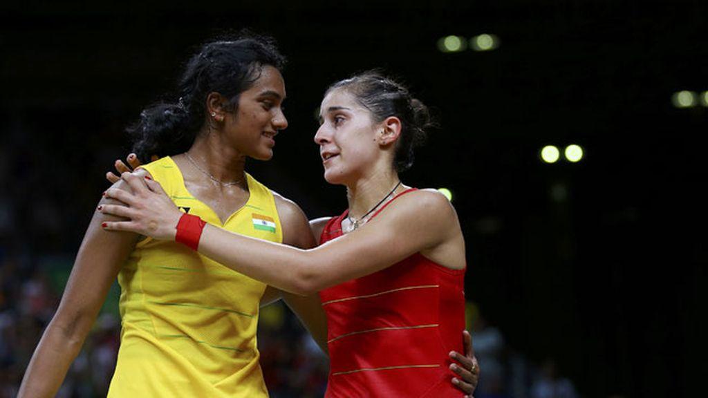 Carolina Marín no pudo contener la emoción al terminar el partido