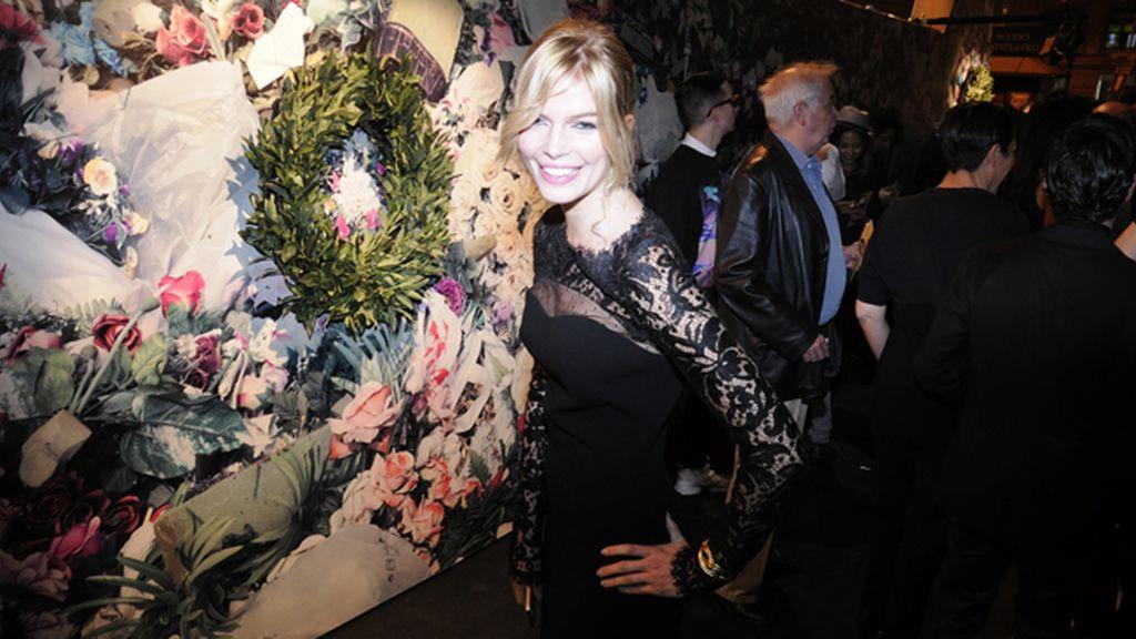 Cristina Tosio acudió con este elegante vestido de Pucci