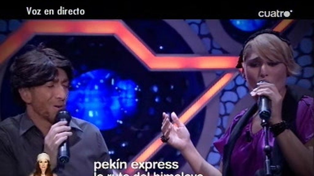 Rosa y Pablo Motos cantan en directo