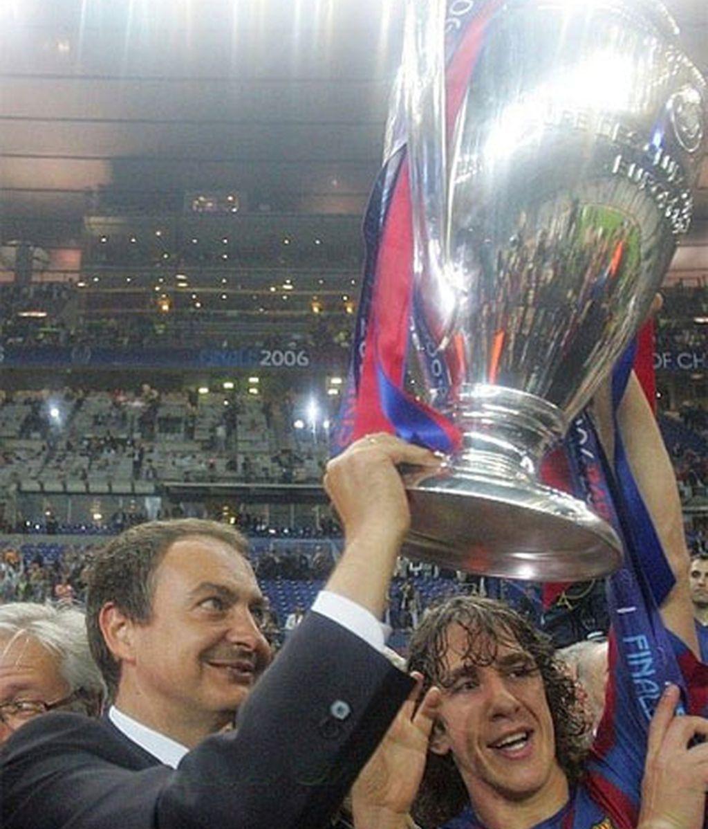 Con la Copa del Liga ganada por el Barça en 2008