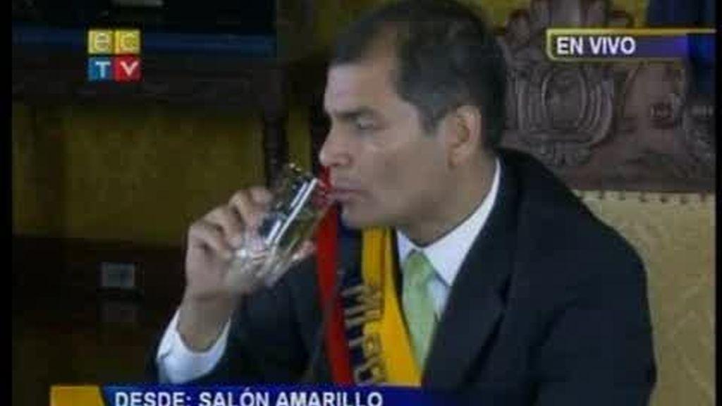Las horas más tensas del presidente ecuatoriano