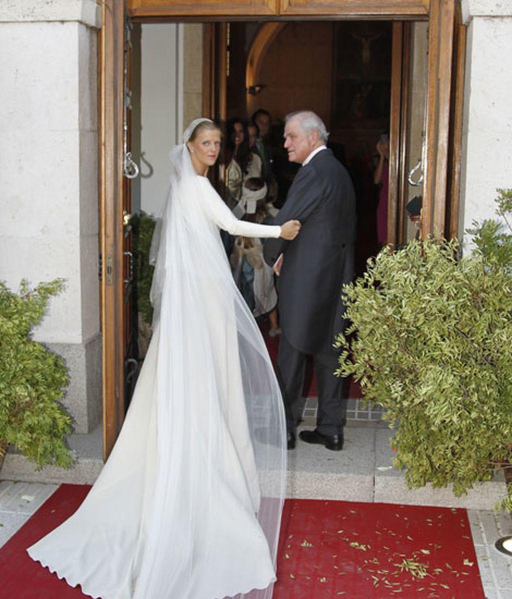 Ramón Calderón acompañando a la novia al altar