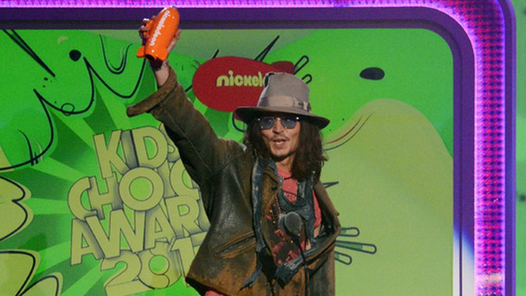 Johnny Depp, Mejor actor de cine en los 'Kids Choice Awards'
