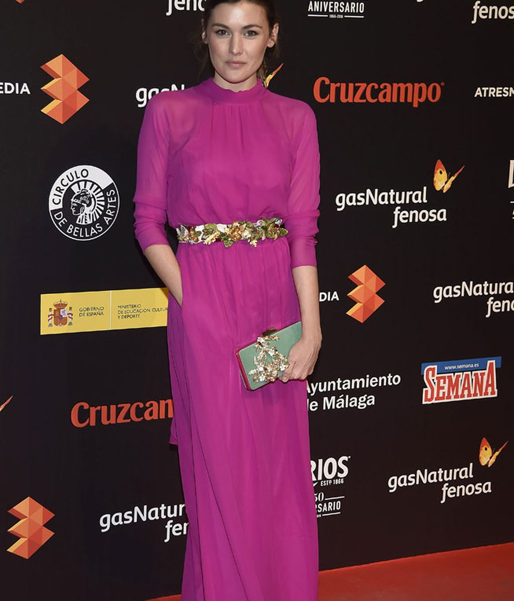 La actriz Marta Nieto, de rosa fucsia