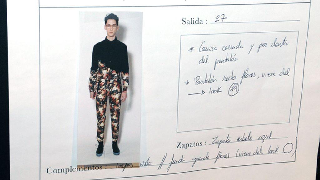 Este diseño de estampados florales fue nuestro look favorito de entre todas las propuestas masculinas de Ana Locking