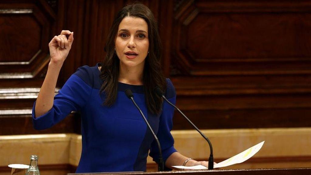 Inés Arrimadas durante el debate de investidura