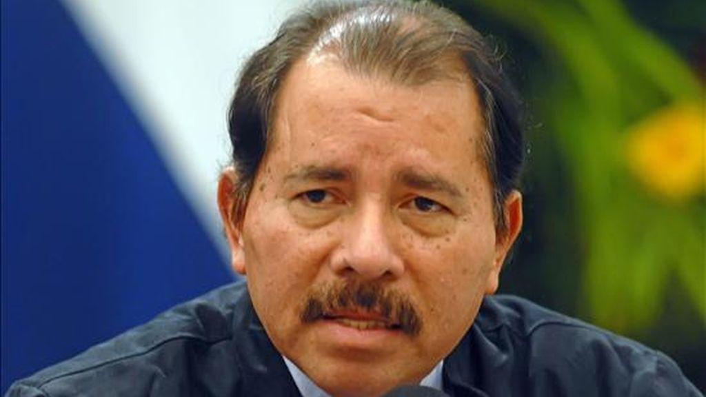 """""""Yo estoy dispuesto a ir (a dialogar) donde ella lo diga (la presidenta Chinchilla), sin precondiciones"""", afirmó Ortega, en una declaración escrita divulgada hoy por el Gobierno de Managua. EFE/Archivo"""