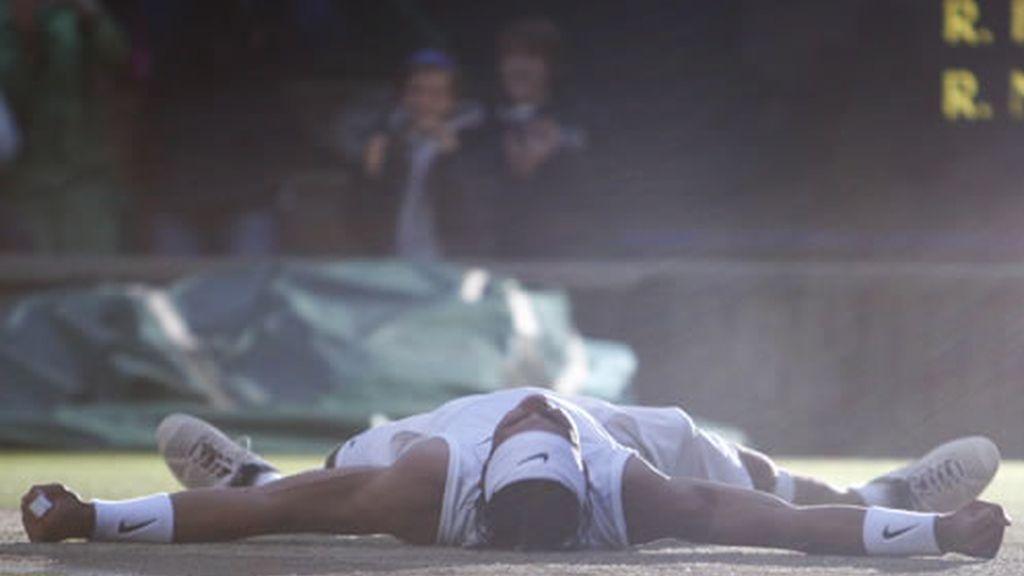 La felicidad de Rafa Nadal tras conquistar Wimbledon