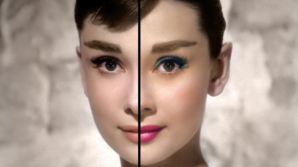 Maquillando a Audrey Hepburn