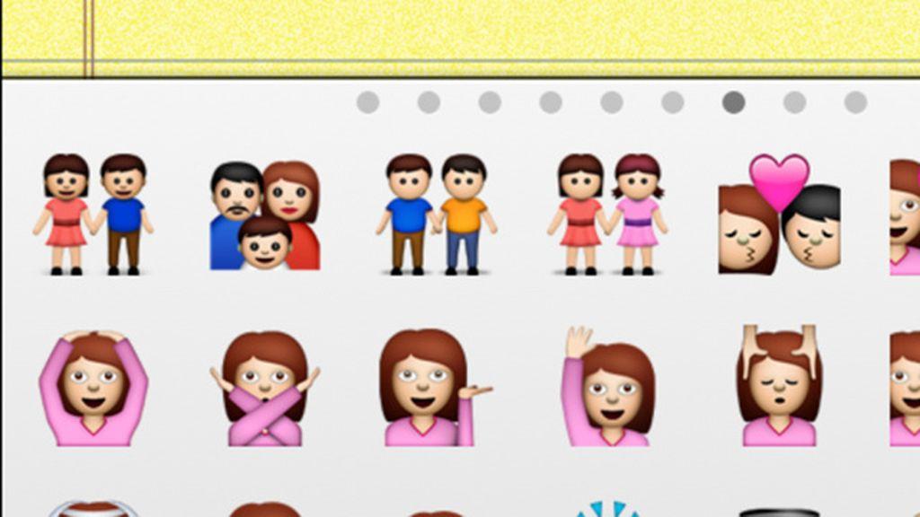 emoticons, emojis, gay, lesbiana, pareja, Apple