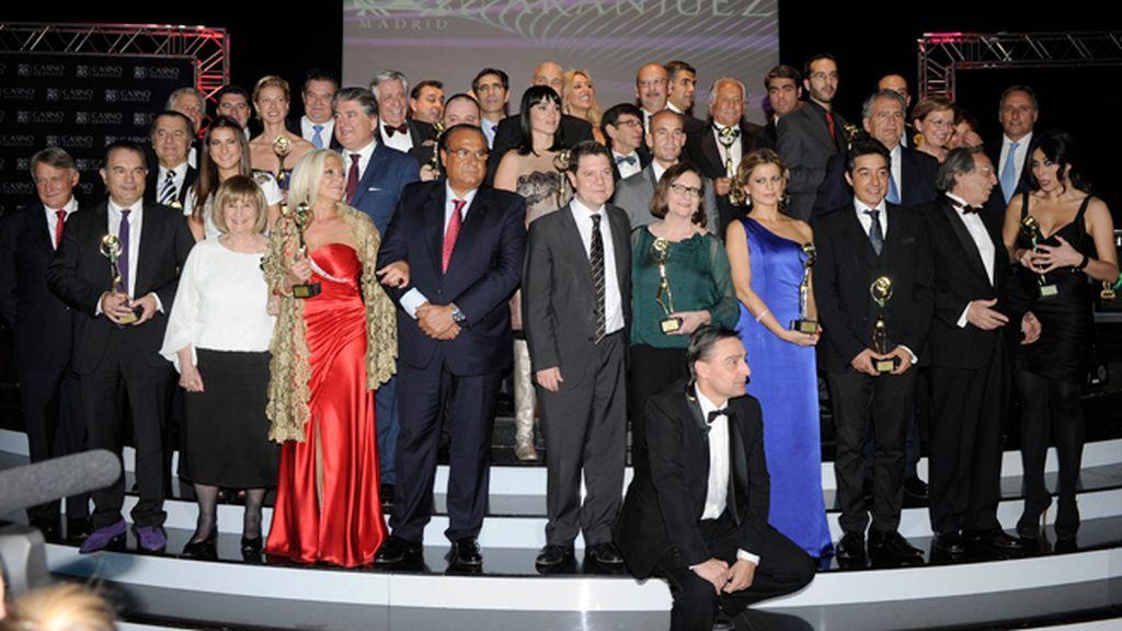 Los premiados con la Antena de Oro