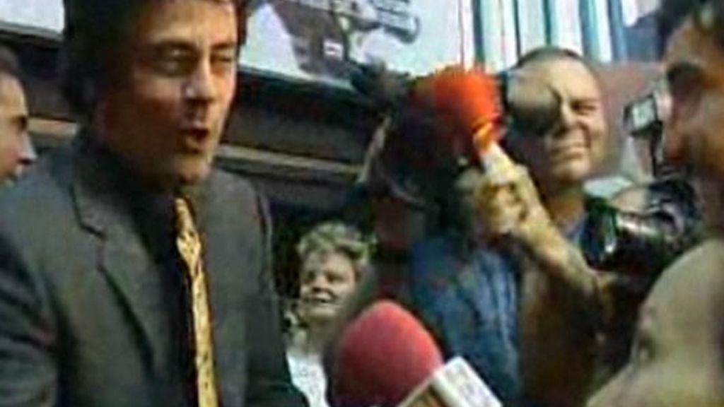 Con Benicio del Toro