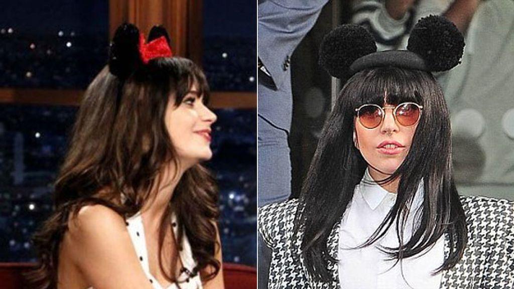 Zoey Deschanel y Lady Gaga, la familia Mouse