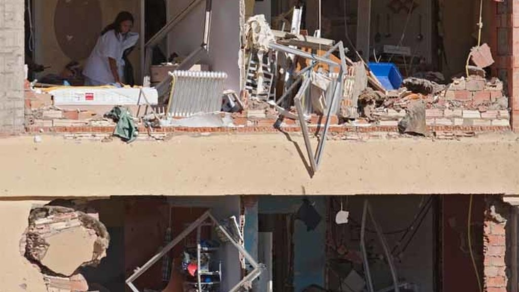 Casas destrozadas tras el atentado