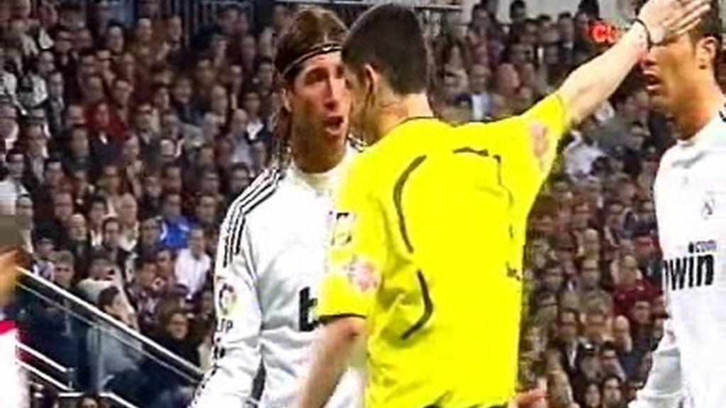 Cabreo con Sergio Ramos