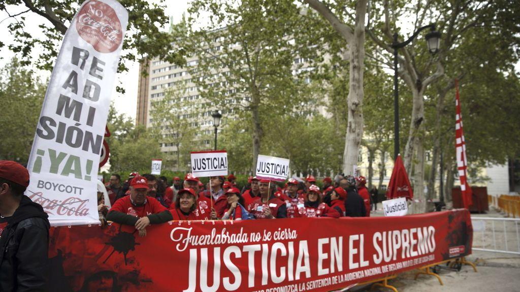 Los trabajadores de Coca-cola celebran que el Supremo haya anulado el despido colectivo