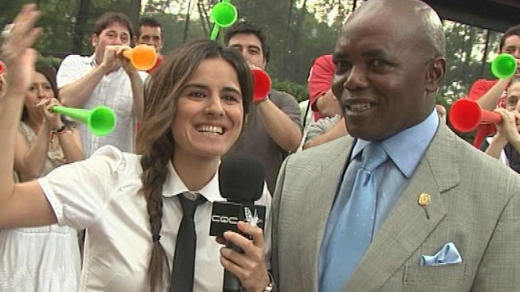 Esti Gabilondo y las vuvuzelas