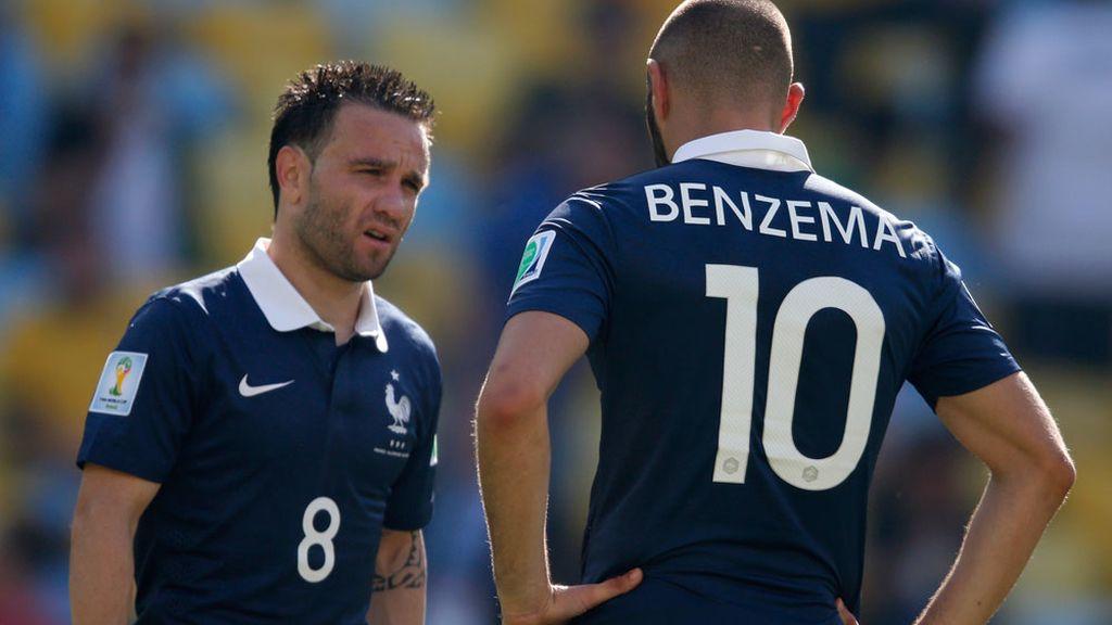 Valbuena y Benzema