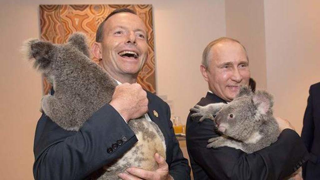 Tony Abbot y Vladimir Putin