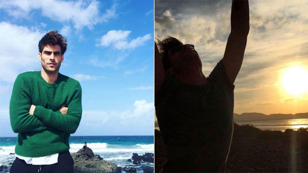 """Jon Kortajarena disfrutando de la """"tierra de fuego"""", Lanzarote"""