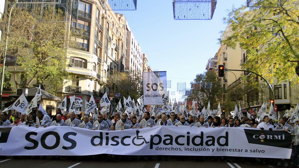 Manifestación de apoyo a los discapacitados