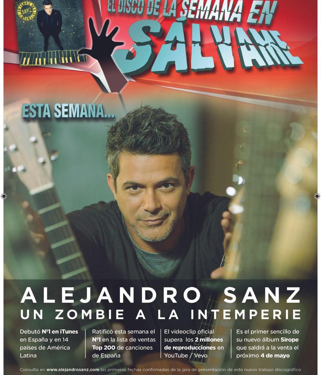 """Alejandro Sanz estrena su nuevo single """"Un Zombie a la Intemperie"""""""
