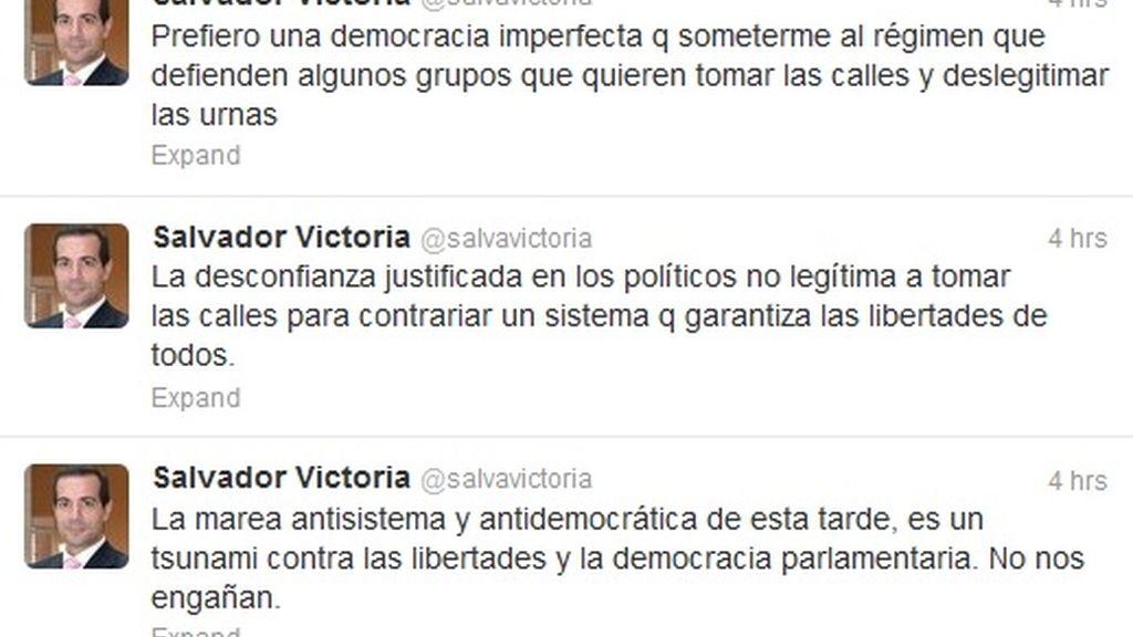Victoria compara la manifestación de la 'Marea Ciudadana' con el fallido golpe de estado del 23-F