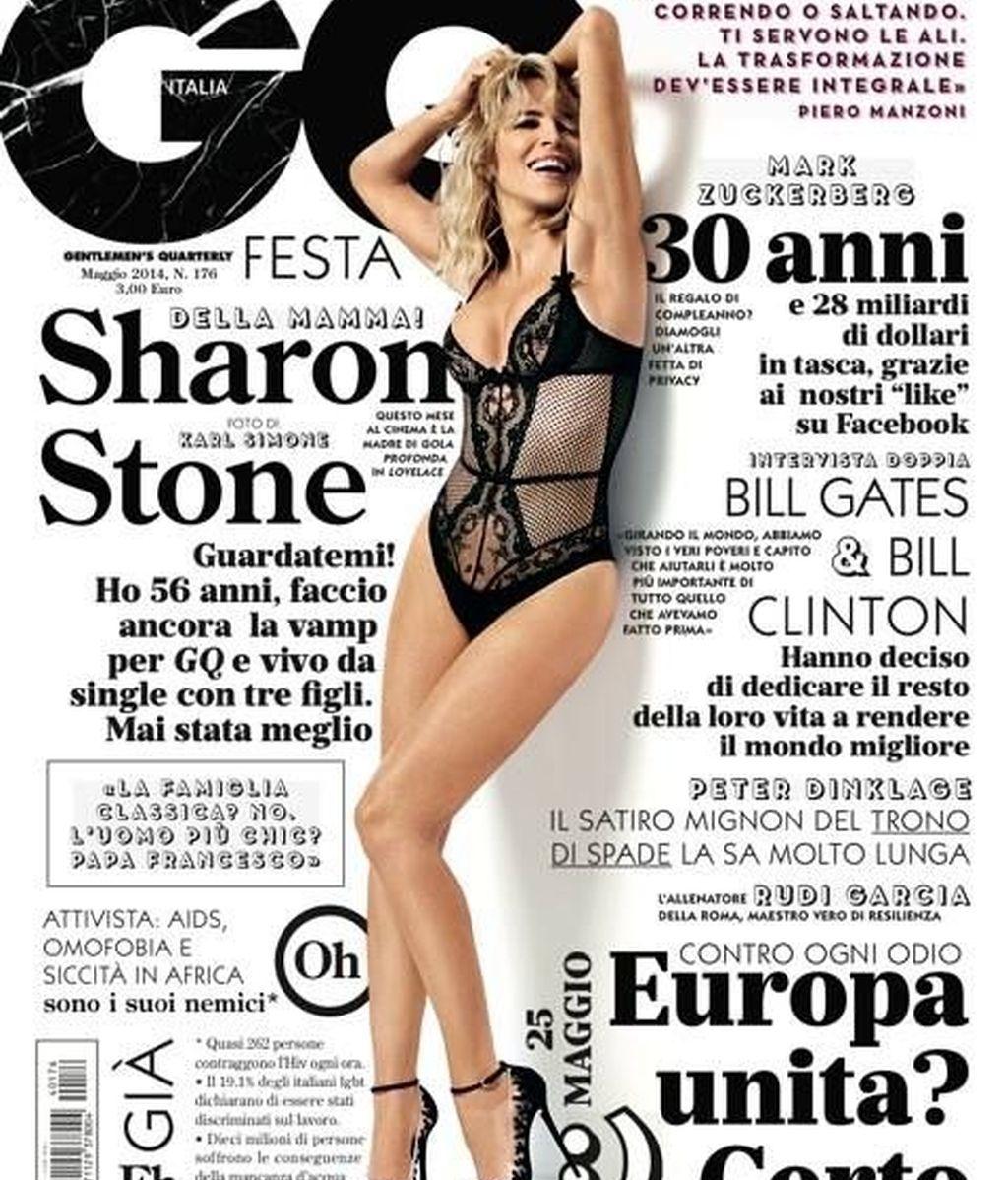 Sharon Stone, a los 56 años