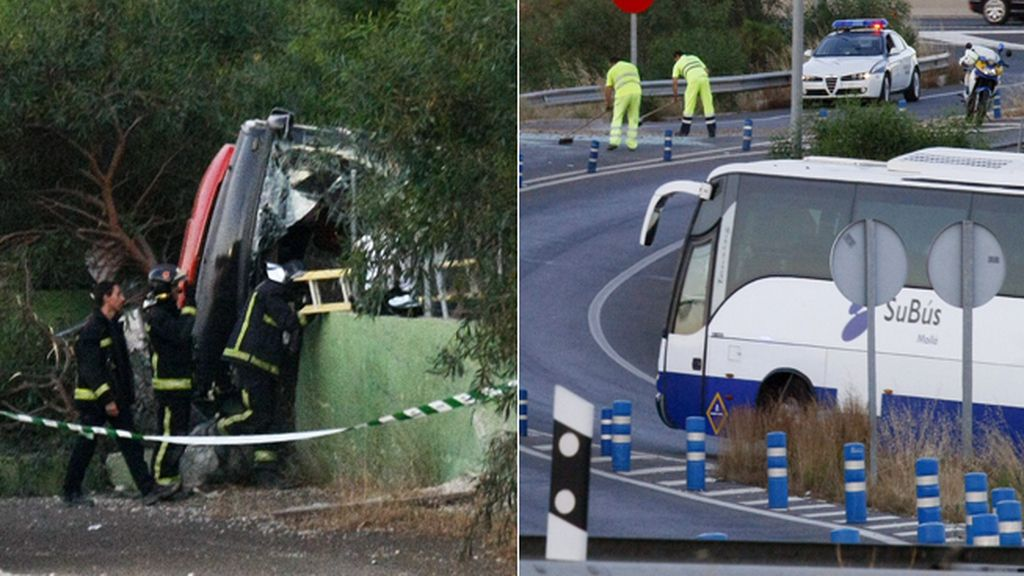 Accidente de autobús en Alicante