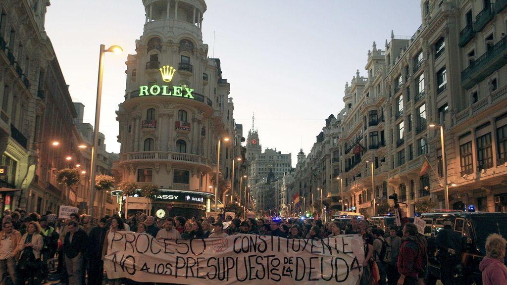 La Delegación de Gobierno en Madrid abre expediente administrativo a 300 manifestantes del 27-O