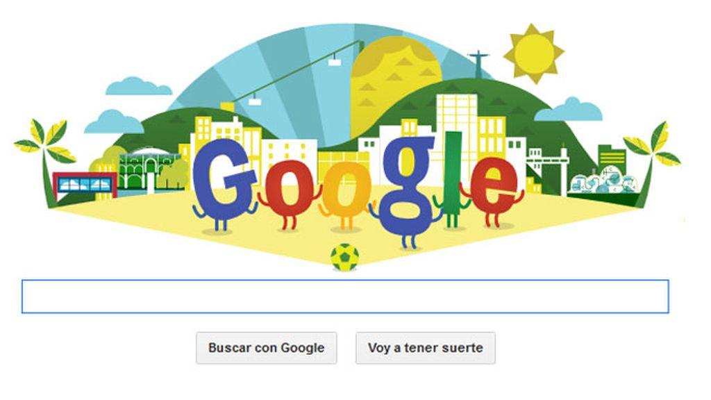Google doodle mundial de fútbol, Brasil 2014
