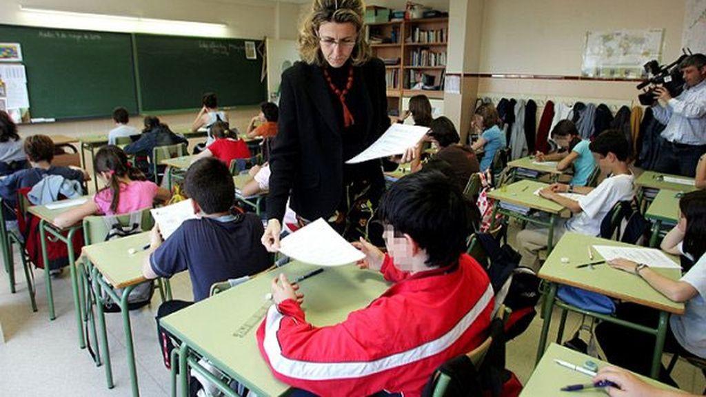 Alumnos de una escuela de primaria