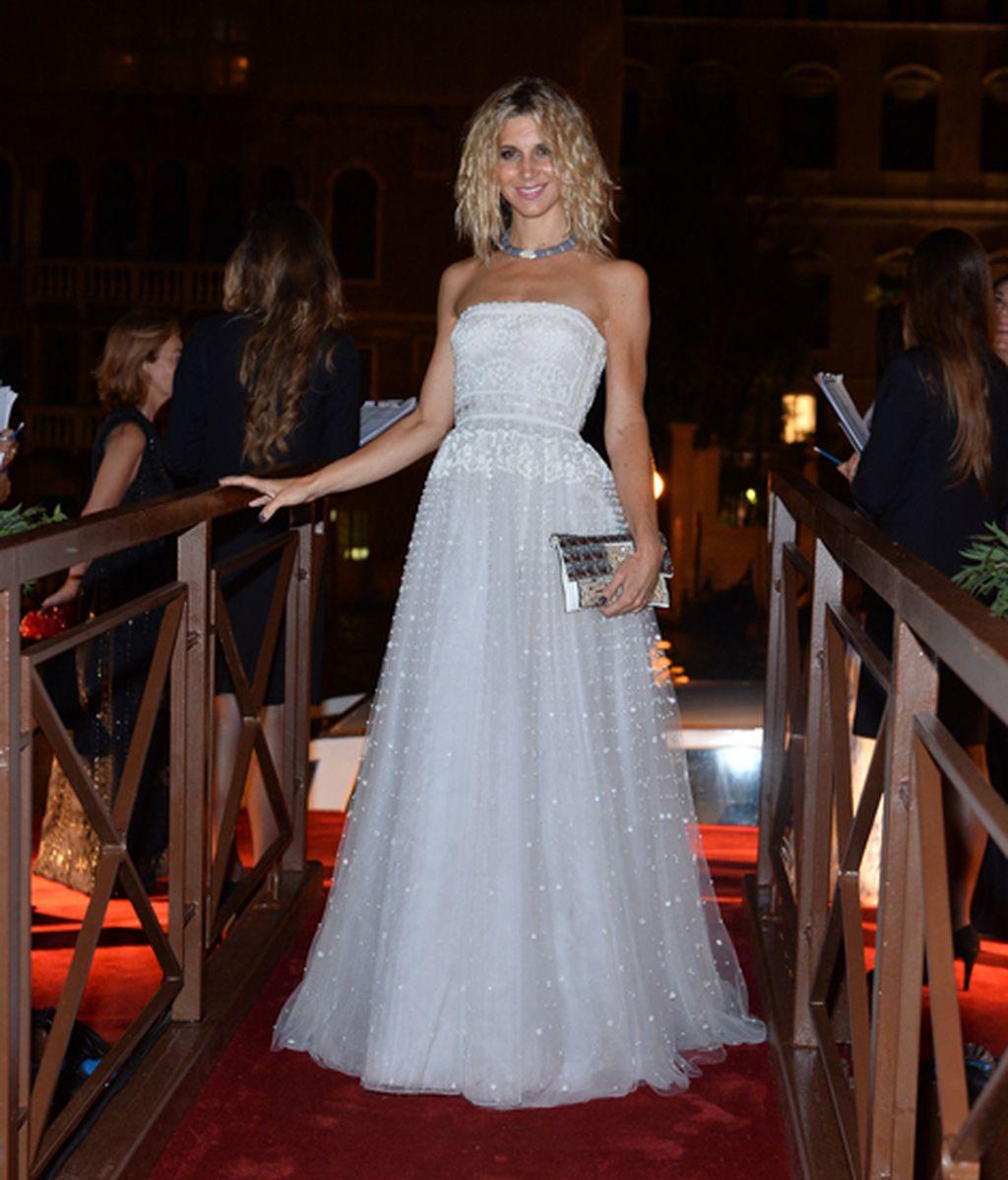 Nicoletta Romanoff en la Fiesta de Valentino