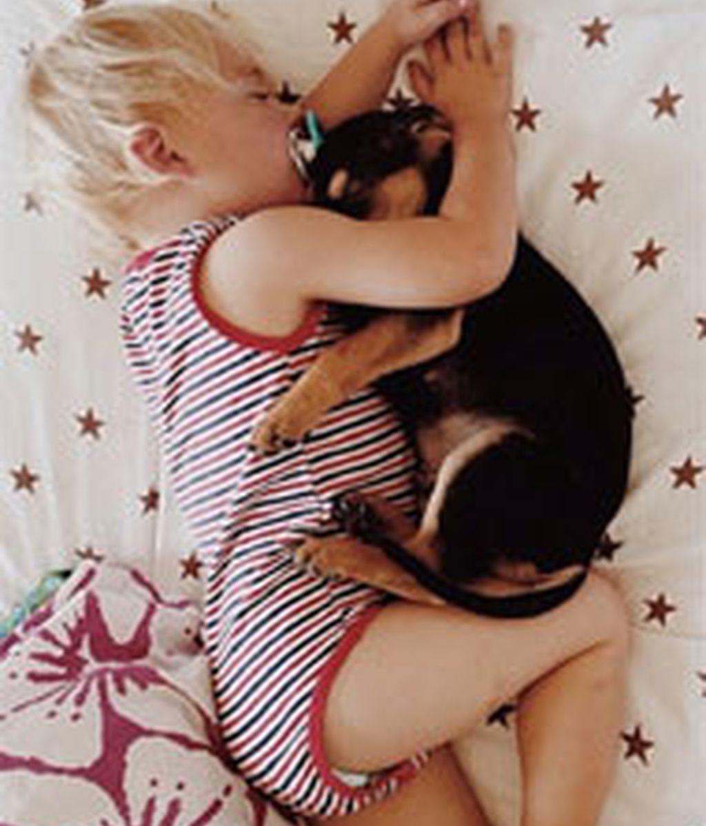 Dulces sueños de un bebe con su perro