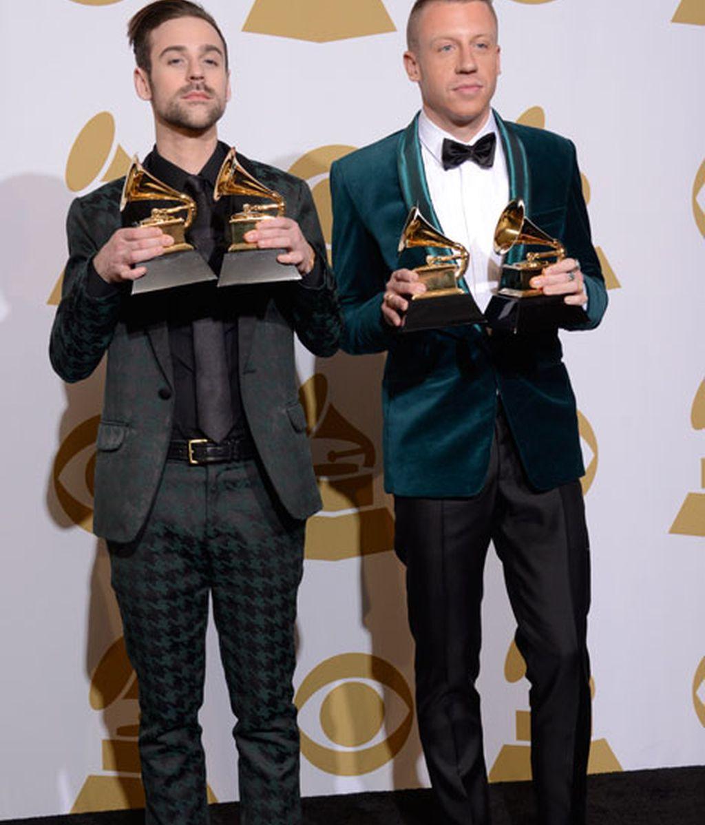 Ryan Lewis y Macklemore, triunfadores en las categorías de rap