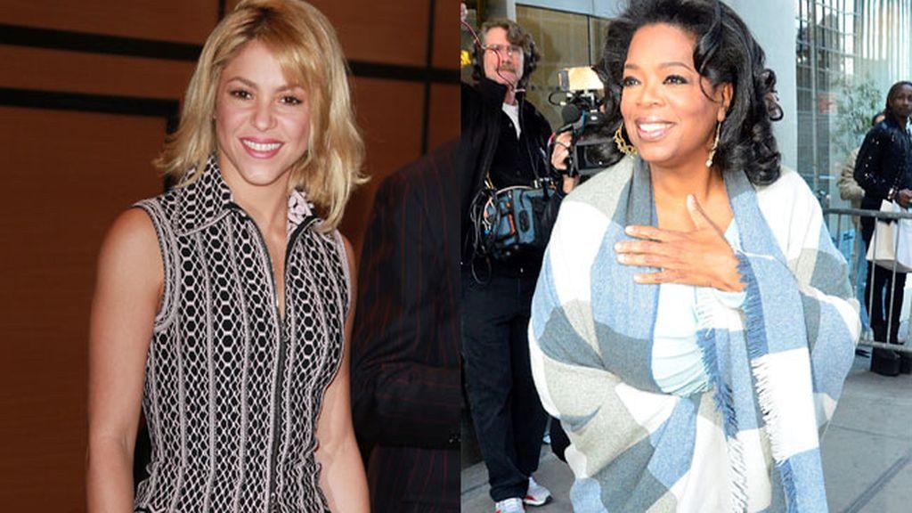 Shakira y Oprah Winfrey