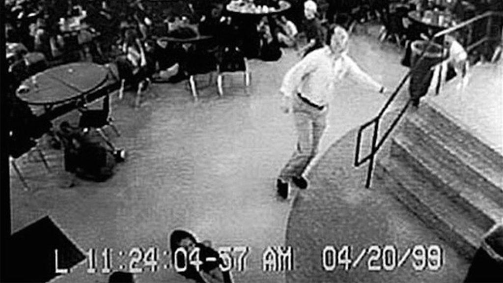 Momento antes del ataque en Columbine
