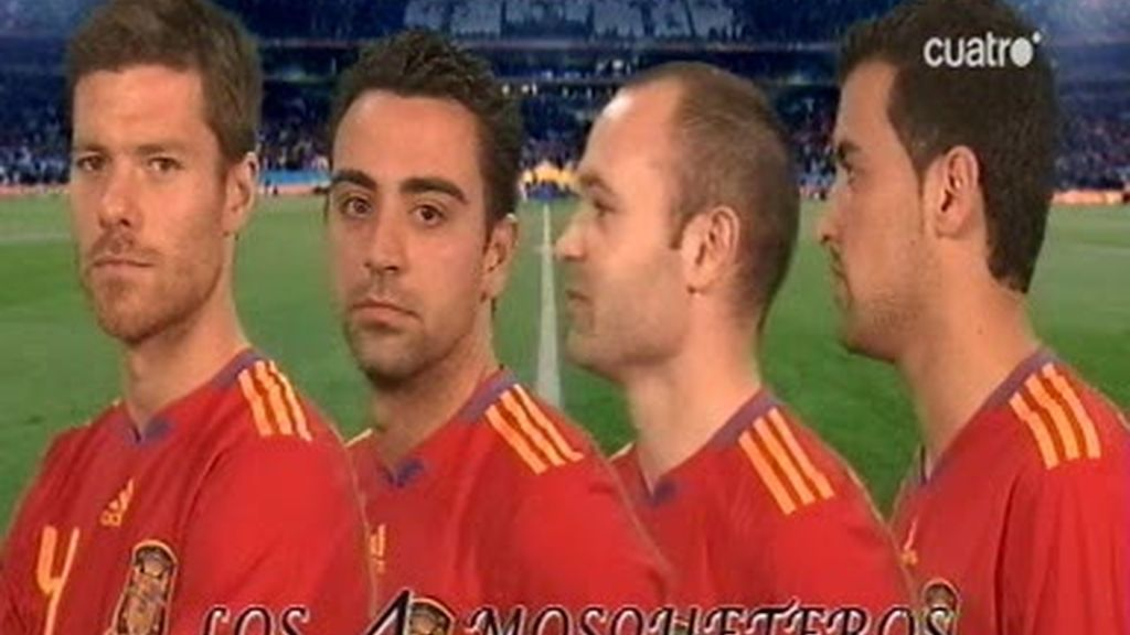 Xabi, Iniesta, Busquets y Xavi son...los cuatro mosqueteros