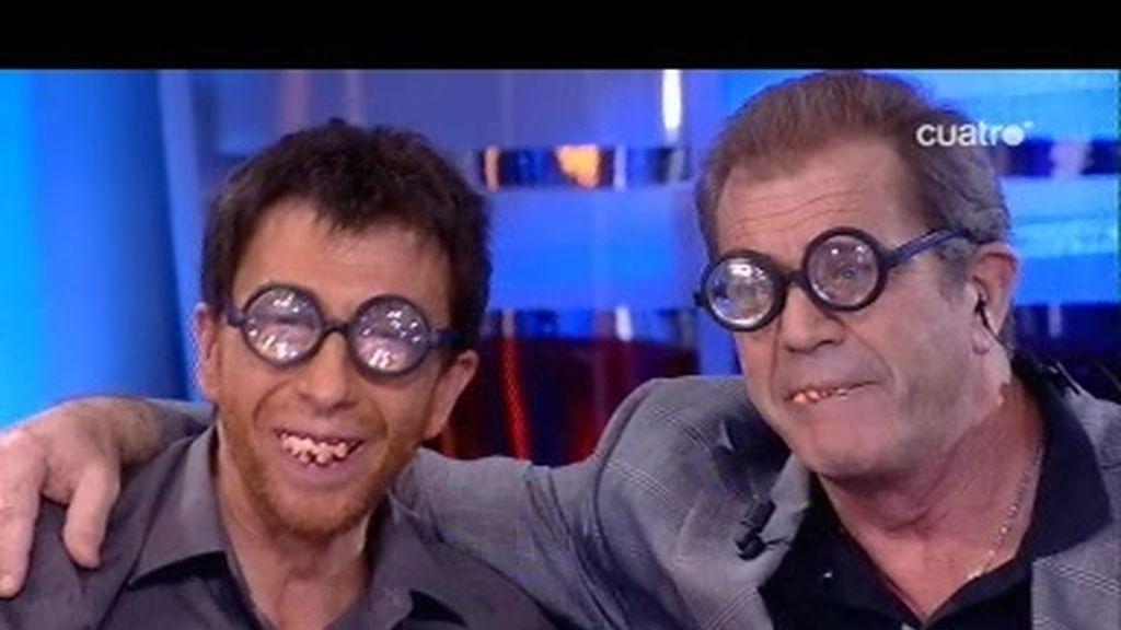 Mel Gibson y Pablo Motos, una entrevista de feos