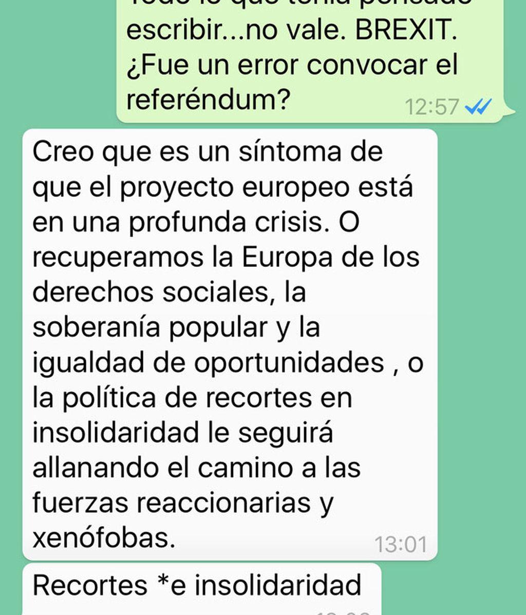 Iñigo Errejón, a golpe de WhatsApp