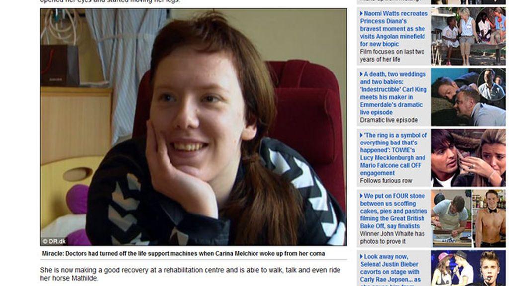 Carina Melchior. Foto: Daily Mail.
