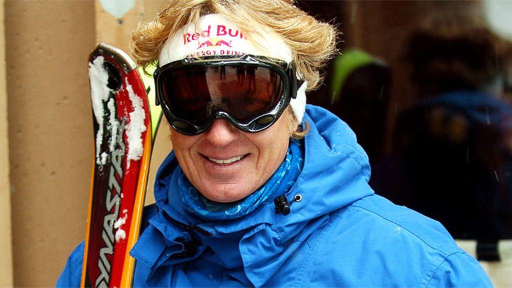 Amante del esquí y el aire libre